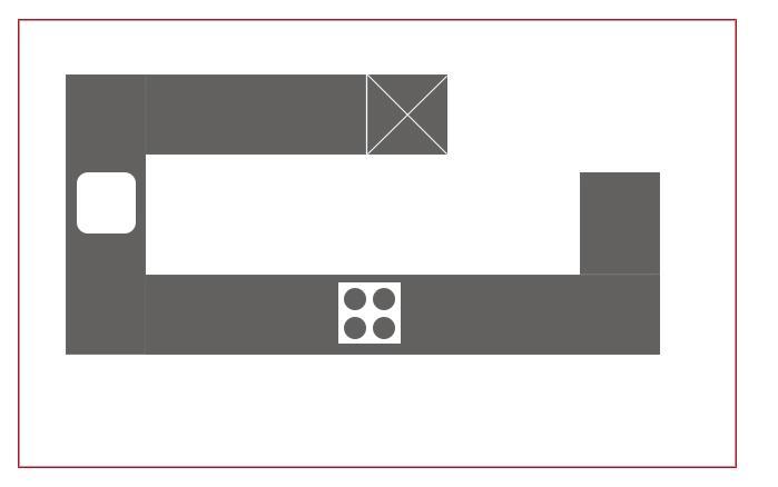 L+U+G-Küchenformen, Installationsplan