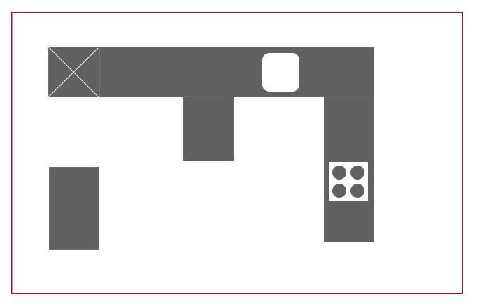 Sonderformen Küchen Installationsplan
